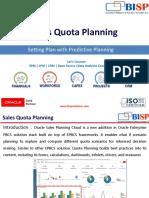 Sales Quota Planning Predictive Planning