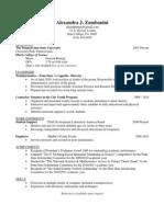 Alexandra's Resume
