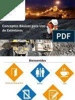 USO  MANEJO DE EXTINTORES Y TIPOS DE FUEGO