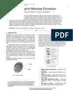 Fingerprint Minutiae Extraction