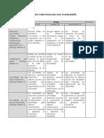 Las Rúbricas en La Planificación Curricular Ccesa007