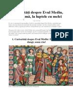 5 curiozități despre Evul Mediu, de la ciumă, la luptele cu melci.docx