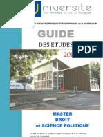 Guide des études 2010-2013 Master Droit et Sciences Politique