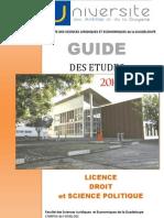 Guide des études 2010-2013 Licence Droit et Science politique