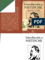 Colli, Giorgio. - Introduccion a Nietzsche [1983].pdf