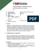 SILABO PSICOLOGIA CLINICA Y DE LA  SALUD I