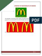 Promotional Strategy of Macdonald