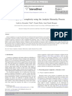 Measuring Project Complexity Using the Analytic Hierarchy Process