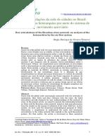 Novas articulações da rede de cidades no Brasil