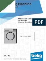 Manual Masina de Spalat Beko Slim 7 Kg