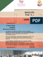 Boletín paz 1 2019