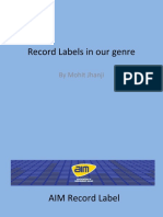 Record Labels in Indie Genre Mohit