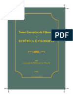 ESTÉTICA E FILOSOFIA