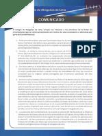 Comunicado CAL 18-02-2020