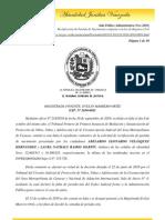 Sala Político Administrativa (Nov-2010) Rectificacion de partidas