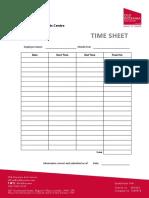 ODAC - Time Sheet Template