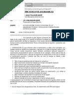INFORME TECNICO Nº 001