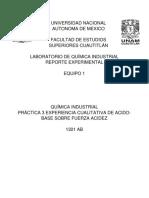 PRÁCTICA 3 EXPERIENCIA CUALITATIVA DE ACIDO-BASE SOBRE FUERZA ACIDEZ