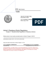 NYC Residential Zoning resolution