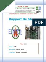 rapport de stage électromécanique des systèmes automatiser EUROTECH