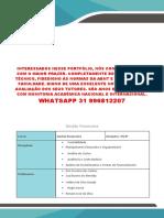 Encomende Seu Portfólio Unopar Conosco - Gestao Financeira 2 e 3 - Clothes Store - Whatsapp 31 996812207