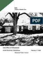 Natalie Finn Report - Iowa Ombudsman's Office Feb. 2020