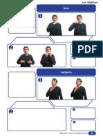 Los adjetivos en lenguaje de señas