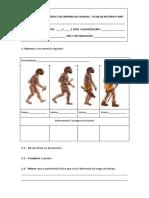 Ficha de Trabalho e Revisões Sobre o Paleolítico