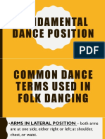 Common dance terms used in folk dancing