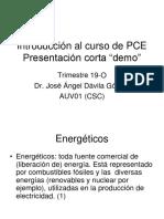 Introducción al curso PCE 19 O