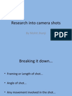 Research Into Camera Shots Mohit