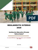IEP ALFRED NOBEL - REGLAMENTO INTERNO 2020