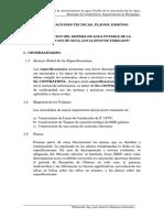 ESPECIFICACIONES TECNICAS OJO DE AGUA