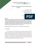 MODELAGEM MATEMÁTICA DE ROBÔS ATRAVÉS DE TRANSFORMAÇÕES LINEARES