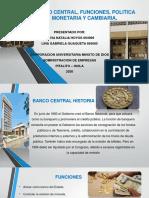 BANCO CENTRAL, FUNCIONES, POLITICA MONETARIA Y