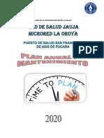 PLAN ANUAL DE MANTENIMIENTO DE EQUIPOS 2020