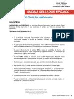 Hoja técnica ANDINA SELLADOR EPÓXICO
