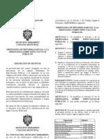 ORDENANZA DE REFORMA PARCIAL A LA ORDENANZA SOBRE ESPECTÀCULOS PÚBLICOS