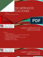 CURSO DE METRADOS EN EDIFICACIONES