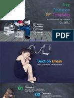 Chalk Drawn Books PowerPoint Templates.pptx