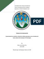 Caracterización de Residuos y Desechos Totonicapán 2019