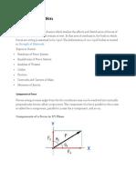 Principle of statics