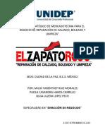 PLAN ESTRATÉGICO DE MERCADOTECNIA PARA EL NEGOCIO DE REPARACIÓN DE CALZADO