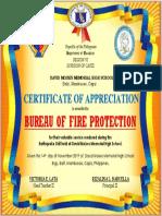 certificate fire