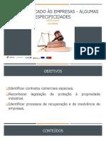 PPT UFCD 6223_Direito aplicadas às empresas algumas especificidades
