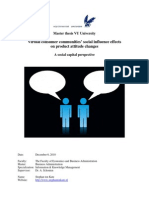 Social influences within virtual consumer communities