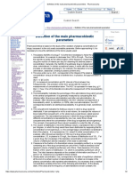 1. Definition of the main pharmacokinetic parameters - Pharmacorama