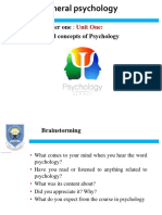 chapter one and two psychology