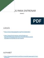 JUEGOS PARA ENTRENAR