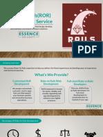 Ruby on Rails (RoR) Web Development